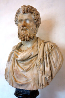 Septimius Severus who increased the pay of the soldiers, and thus unleashed inflation